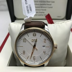 Wenger Terragraph Two Tone Watch NWT